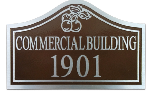 Aluminum address plaque